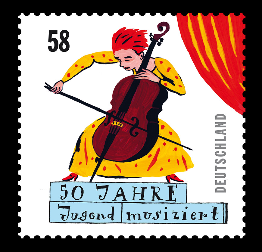 stamp-cello